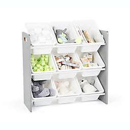 Tot Tutors Kids Toy Storage Organizer in Grey/White