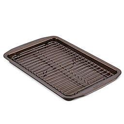 Circulon® Non-Stick 2-Piece Baking Pan and Cooling Rack Set in Chocolate