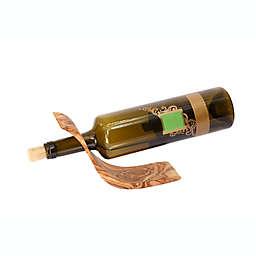Kamsah Olive Wood Wine Bottle Holder in Brown