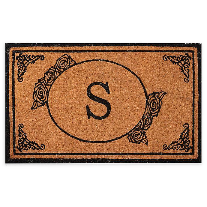 """Envelor Home And Garden Monogram Letter """"S"""" Coir Door Mat"""