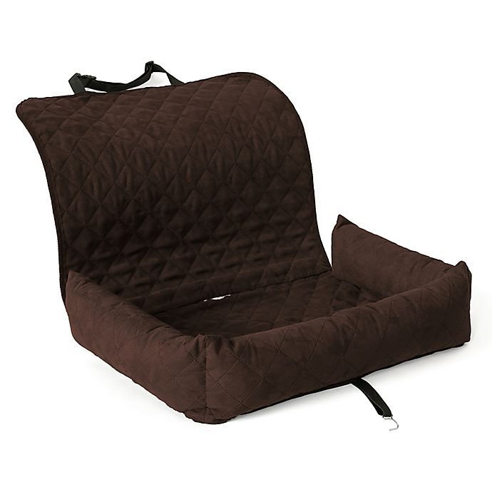 Alternate image 1 for Co-Pilot Micro-Suede Quilted Single Bolstered Car Seat Protector in Mocha