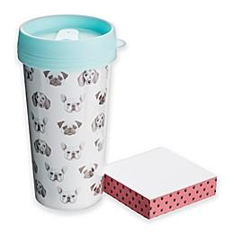 Tri Coastal Design 2-Piece Dog Travel Mug and Memo Pad Set