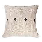 Great Bay Home Michelle Square Throw Pillow in Natural
