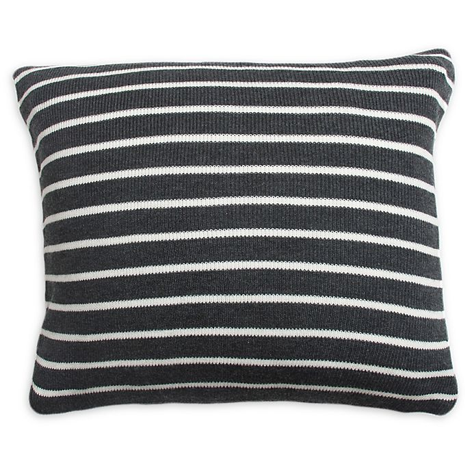 Alternate image 1 for Great Bay Home Davin Square Throw Pillow in Grey