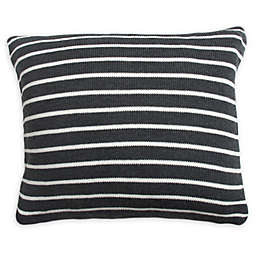 Great Bay Home Davin Square Throw Pillow in Grey