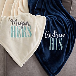 His or Hers Fleece Blanket