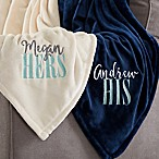 His or Hers 60-Inch x 80-Inch  Fleece Blanket
