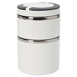 Kitchen Details Round Twist 2-Tier Stainless Steel Insulated Lunch Box