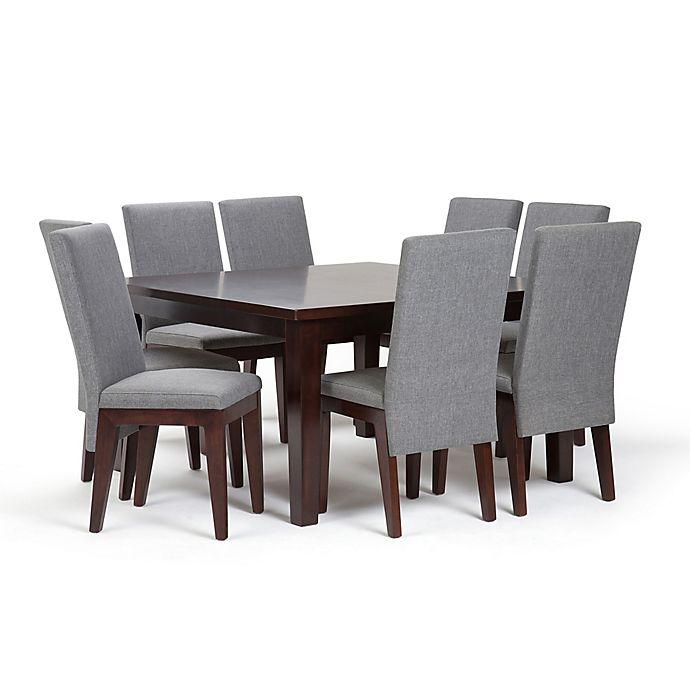 Alternate image 1 for Simpli Home Jennings 9-Piece Dining Set in Grey