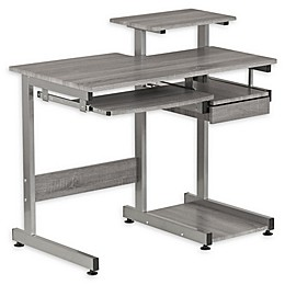 Techni Mobili Complete Computer Workstation Desk in Grey