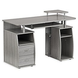Techni Mobili Dual Complete Computer Workstation Desk with Storage