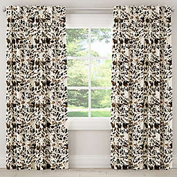 Skyline Furniture Cow 63-Inch Rod Pocket/Back Tab Window Curtain Panel in Brown