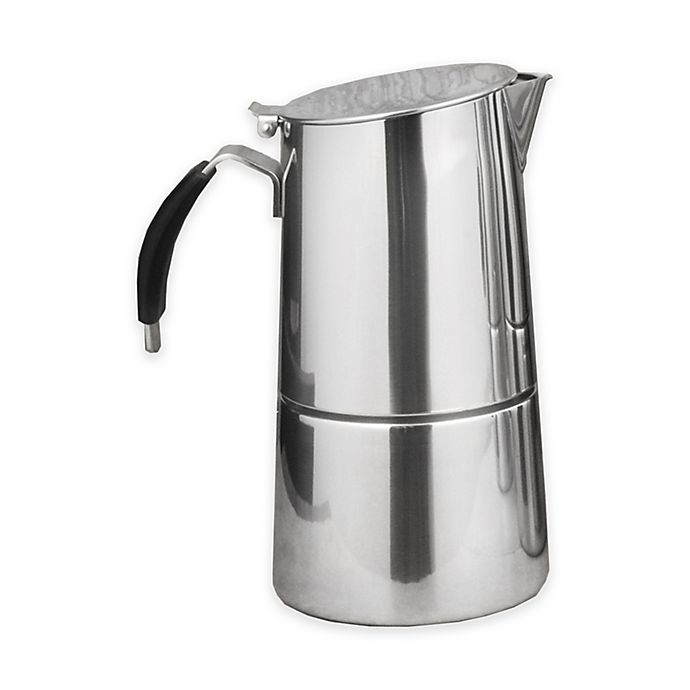 Alternate image 1 for ISLA 4-Cup Stainless Steel Stovetop Espresso Maker