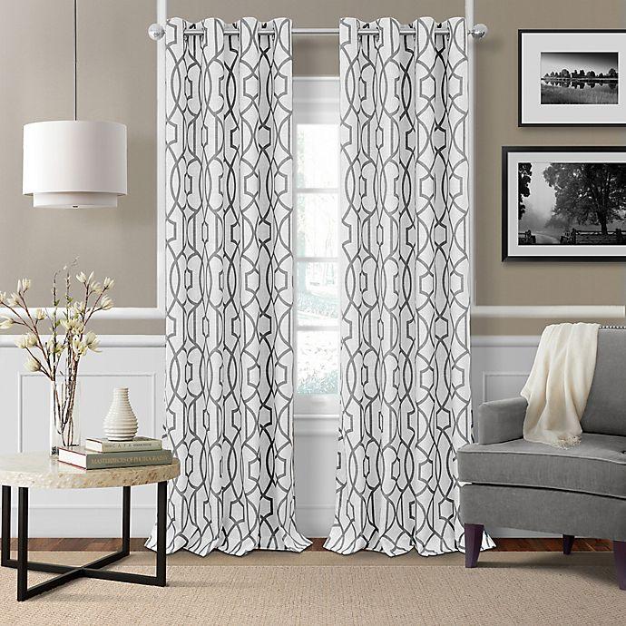 Alternate image 1 for Elrene Celeste 95-Inch Grommet Room Darkening Window Curtain Panel in Grey