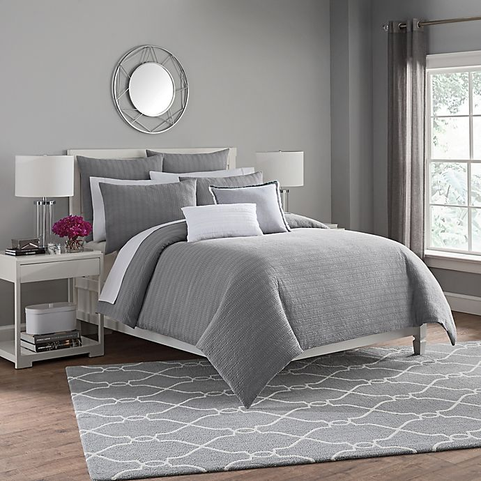Alternate image 1 for Haven Twin Duvet Cover Set in Silver