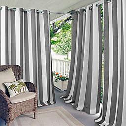 Elrene Aiden Stripe Grommet Indoor/Outdoor Window Curtain Panel