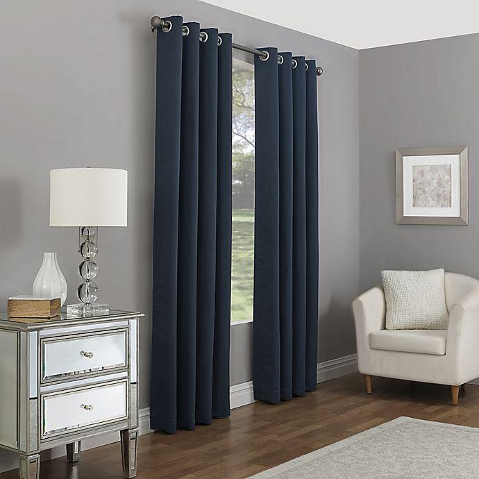 Alternate image 1 for Madeira 63-Inch Grommet 100% Blackout Window Curtain Panel in Indigo