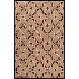 Surya Modern Ikat 3'9 x 5'8 Indoor/Outdoor Area Rug in Brown