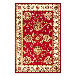 Safavieh Prescott Red/Ivory 4-Foot x 6-Foot Accent Rug