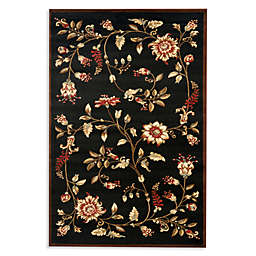 Safavieh Tobin Black/Multi 8-Foot 9-Inch x 12-Foot Room Size Rug