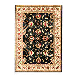 Safavieh Vanity Black/Ivory 4-Foot x 6-Foot Accent Rug