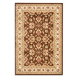 Safavieh Vanity Brown/Ivory 8-Foot 9-Inch x 12-Foot Room Size Rug