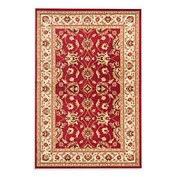 Safavieh Vanity Red/Ivory 3-Foot 3-Inch x 5-Foot 3-Inch Accent Rug