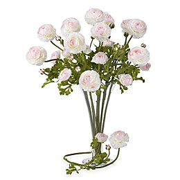 Nearly Natural 23-Inch Silk White Ranunculus Stems (Set of 12)