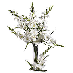 Nearly Natural 36-Inch Silk White Gladiola Stems (Set of 12)