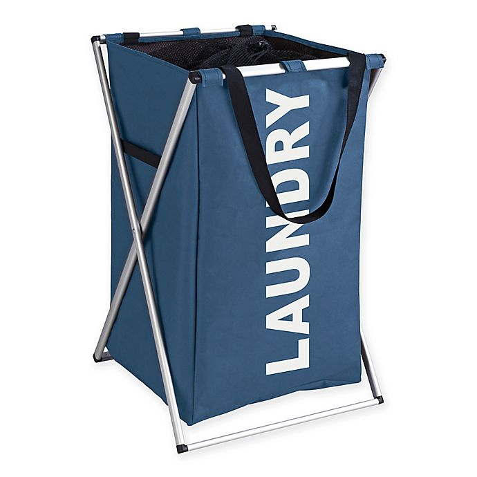 Alternate image 1 for Wenko Uno Laundry Bin in Blue