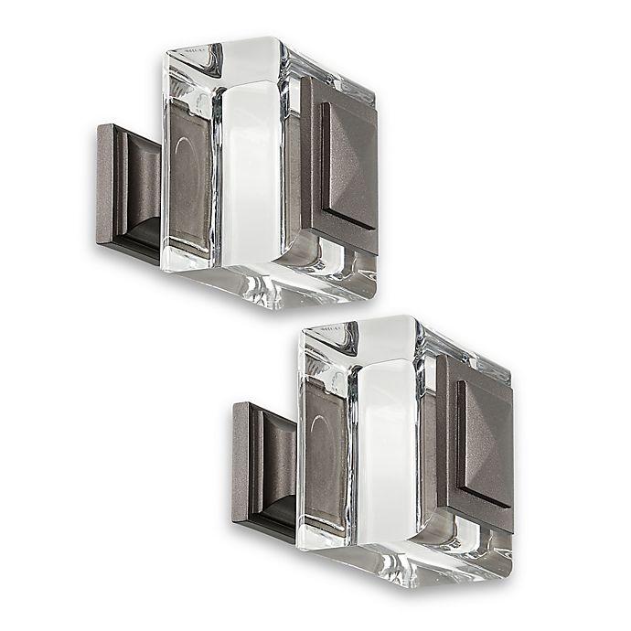 Alternate image 1 for Cambria® Estate Normandy Square Finials in Matte Graphite (Set of 2)