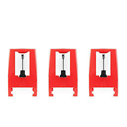 Victrola Turntable Replacement Needles in Red (Set of 3)