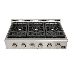 Kucht Professional 36-Inch 6 Burner Range Top in Stainless Steel