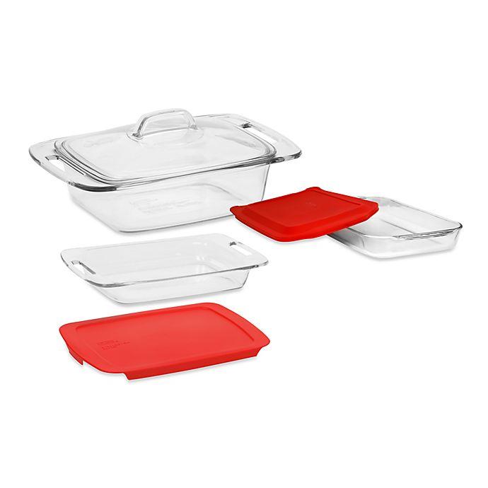 Pyrex Easy Grab 5-Piece Glass Bakeware Set