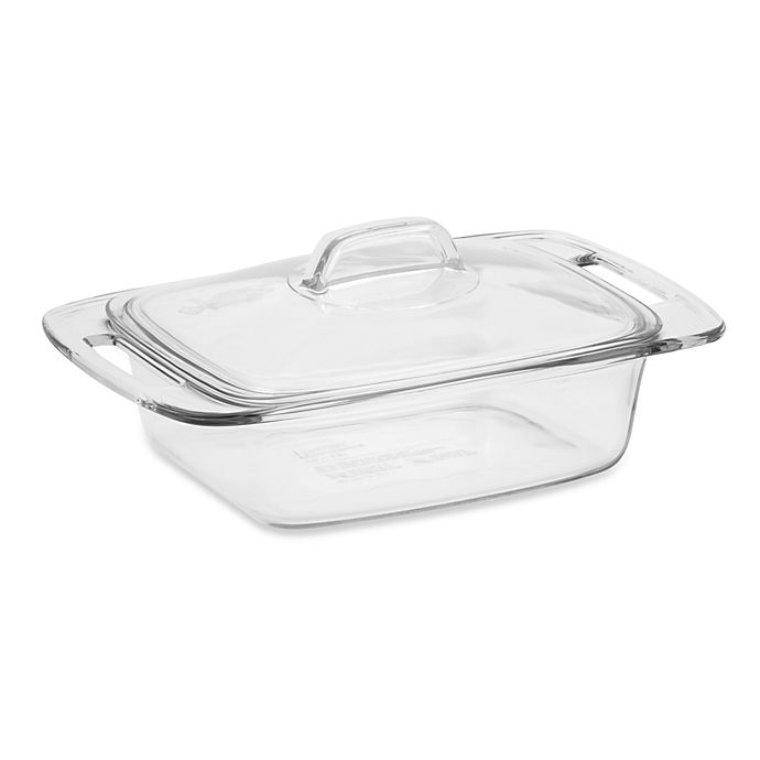 Alternate image 1 for Pyrex® Easy Grab™ 2-Quart Covered Glass Casserole