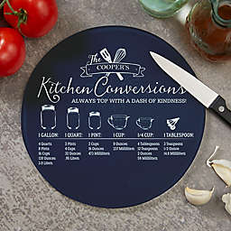 Kitchen Conversions Round Glass Cutting Board