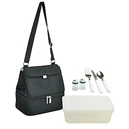 Picnic at Ascot Two Section Lunch Cooler with Accessories