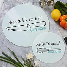 Kitchen Puns Round Glass Cutting Board
