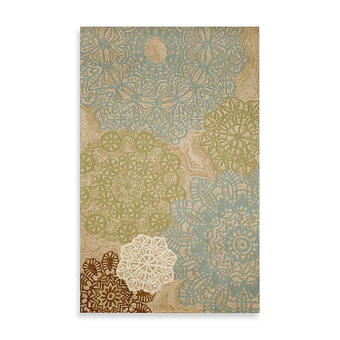Alternate image 1 for Crochet  Indoor/Outdoor Rug in Aqua
