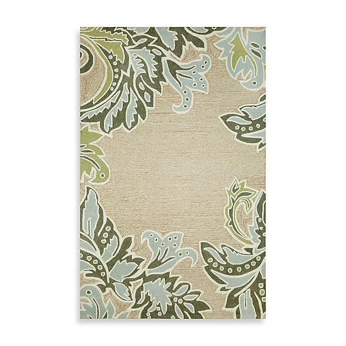 Alternate image 1 for Ornamental Leaf Border 5-Foot x 7-Foot 6-Inch Rug
