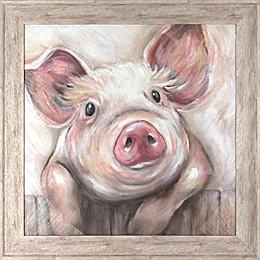Lola Pig 21.63-Inch x 21.38-Inch Framed Wall Art