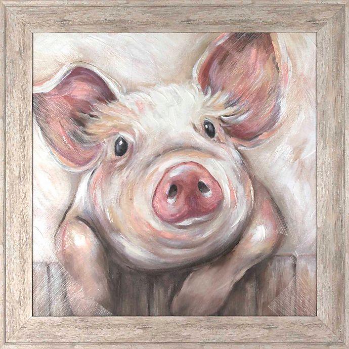 Alternate image 1 for Lola Pig 21.63-Inch x 21.38-Inch Framed Wall Art