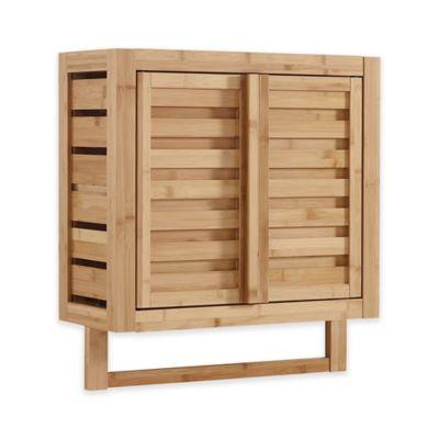 Haven No Tools Bamboo Wall Cabinet, Bamboo Bathroom Wall Cabinet