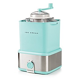 Nostalgia Electrics 2 qt. Ice Cream Maker with Candy Crush in Aqua