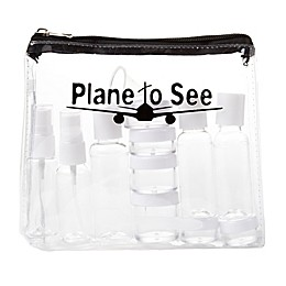 "Miamica® ""Plane to See"" 15-Piece Travel Bottle and Bag Set in Clear"
