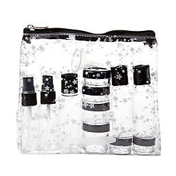 Miamica® Star 15-Piece Travel Bottle and Bag Set in Silver