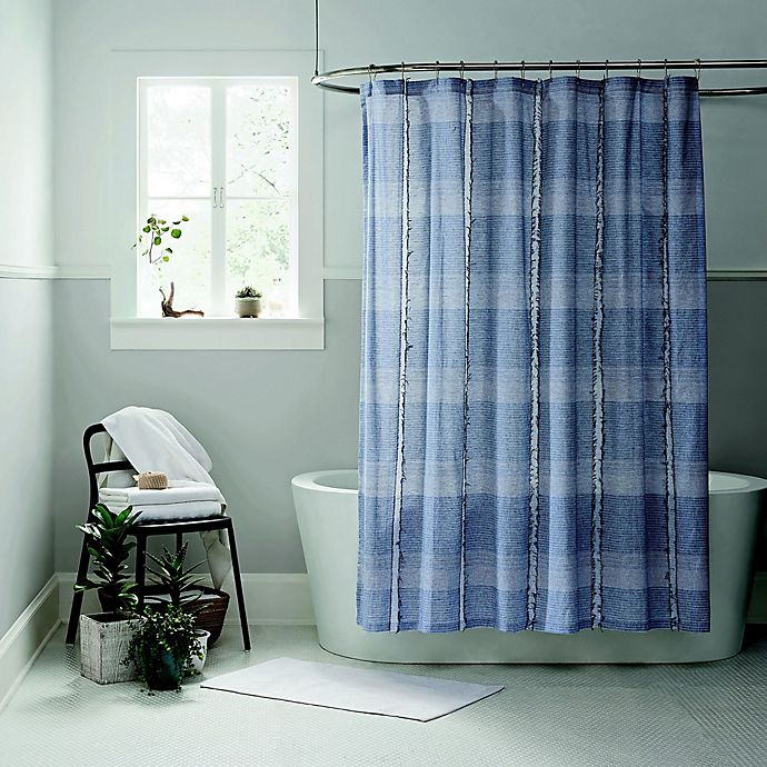 Ugg 174 Aira Shower Curtain In Navy Bed Bath And Beyond Canada
