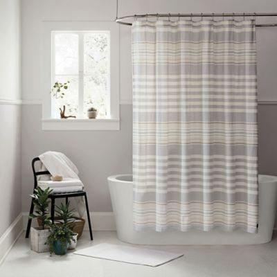 Ugg 174 Lunar Stripe Shower Curtain In Seal Bed Bath Amp Beyond