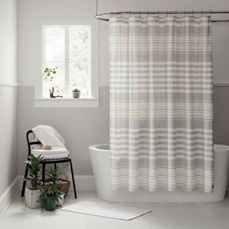 UGGR Lunar Stripe Shower Curtain Collection