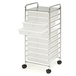 Seville Classics 10-Drawer Organizer in Frosted White